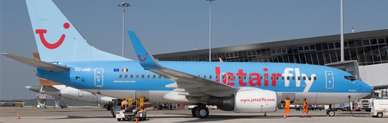 A roport de lille vols de la compagnie jetairfly au for Avion jetairfly interieur
