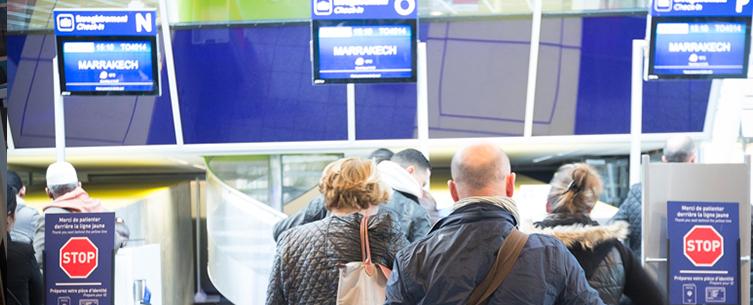 Enregistrement et sûreté Aéroport de Lille